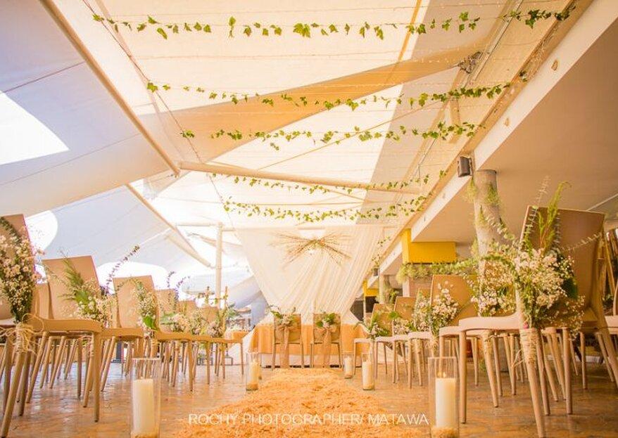 La terraza para bodas del Diez Hotel Categoría Colombia en Medellín
