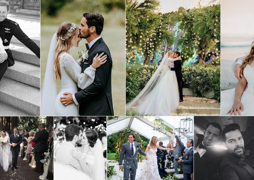 """Os casamentos do ano em retrospectiva: as celebridades que disseram o """"Sim"""" em 2018"""