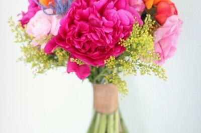 Ideas para ramos de novia primaverales