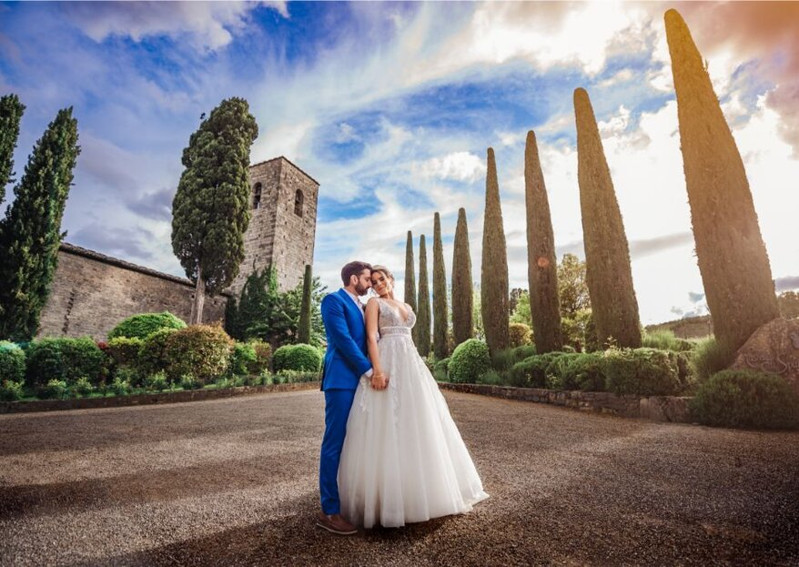 Taciana e Guilherme: casamento dos sonhos na Toscana
