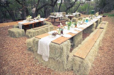 Cómo decorar tu boda con paja: Sácale todo el provecho a este material perfecto