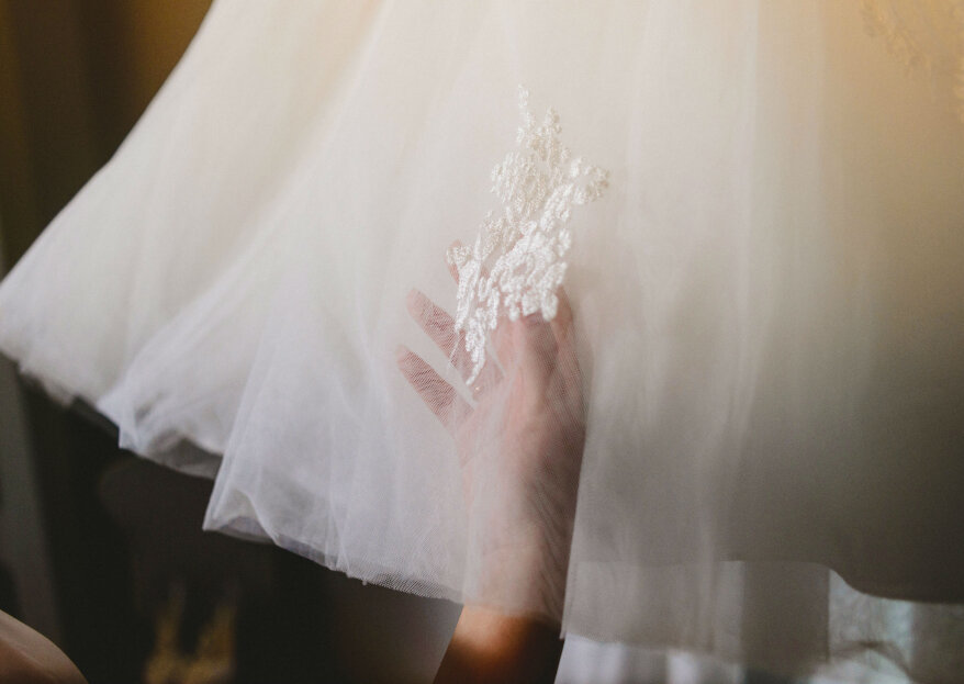 Cómo evitar manchar el vestido de novia durante el matrimonio
