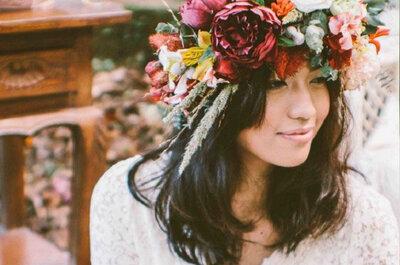5 corone di fiori per la sposa boho-chic 2015 : e tu, quale sceglieresti?