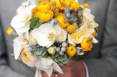 Brautstrauß mit gelben Blumen