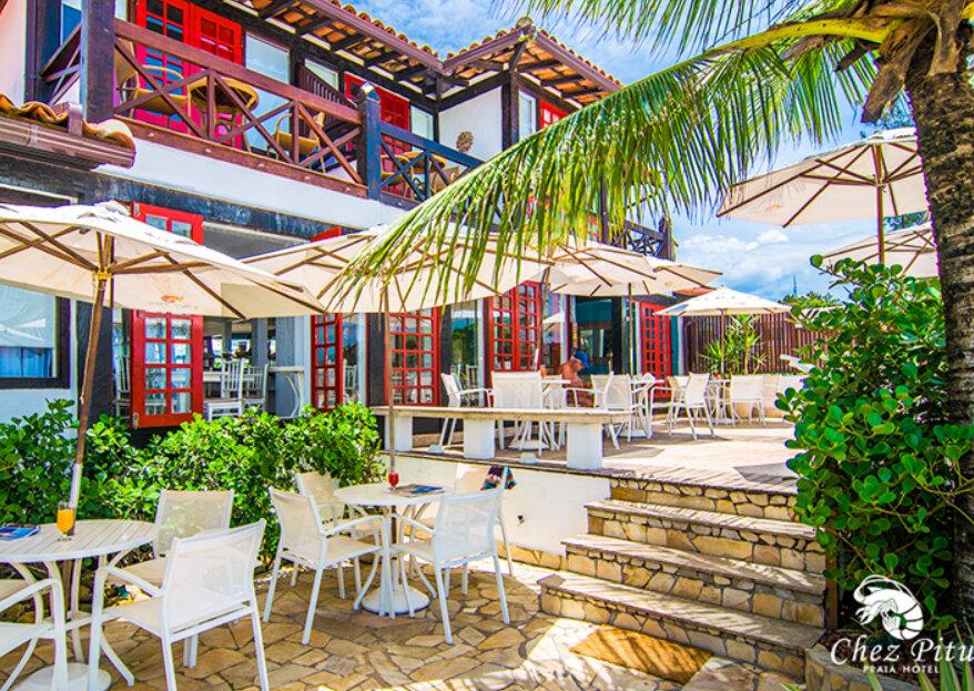 Chez Pitu Praia Hotel: localização privilegiada, ambientes repletos de charme e atendimento ímpar para que sua lua de mel se torne um momento inesquecível!