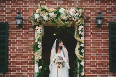 An English country garden wedding for an elegant couple