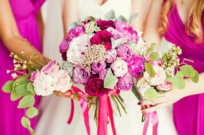 Descubre cómo decorar tu boda con un color llamativo y romántico como el hot pink