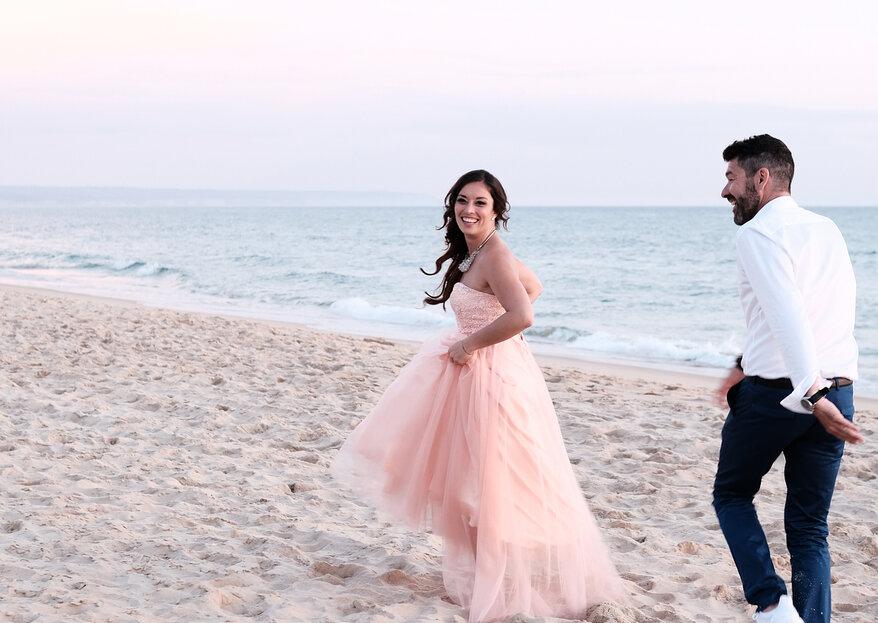 Marcantonio del Carlo e Iolanda Laranjeiro casaram-se na praia... e já há fotos!