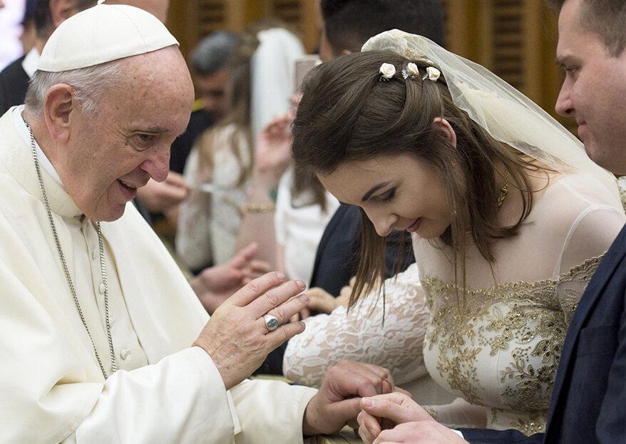 10 conselhos do Papa Francisco para um casamento feliz