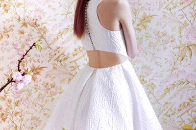 Ángel Sánchez´s 2015 Spring Bridal Collection: structured romanticism