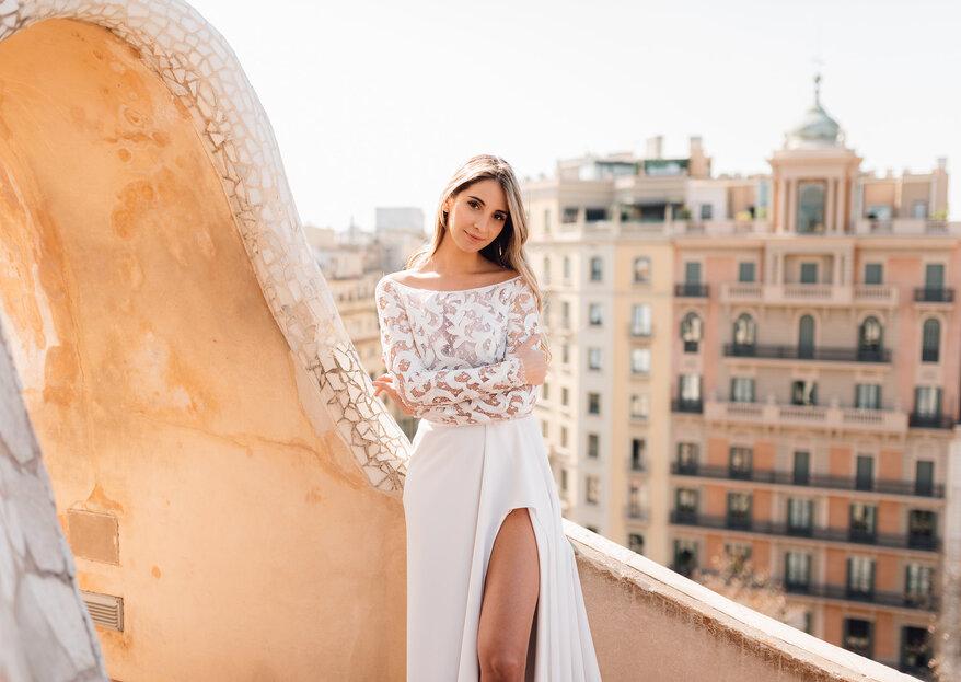 Vestidos de novia del diseñador portugués Gio Rodrigues arrasan en las calles de Barcelona