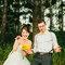 Szalone pomysły na zdjęcia ślubne: Para Moda w lesie, Foto: Julian Beattie