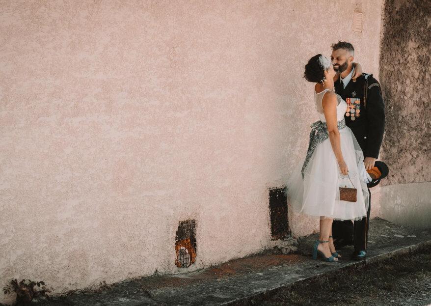 De temática vintage: la boda de Gwladys y Clément