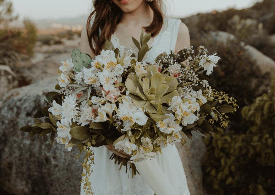 5 bruidsboeketten met vetplanten die je geweldig zal vinden!