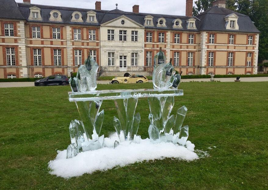 Décoration originale : installez des sculptures de glace à votre mariage avec Ice and Art