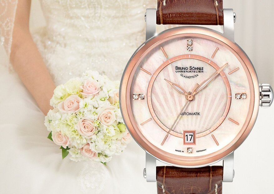 Funkelnd schöne Uhren von uhrzeit.org für eine praktische und schicke Ergänzung zum Brautkleid