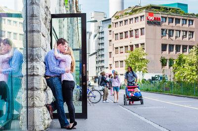 Das Engagement-Shooting von Sarah & Johannes in Zürich – Teil I einer grandiosen Reportage!