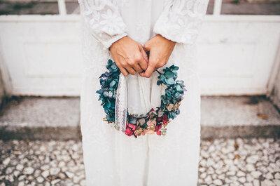 ¡Cambia tu ramo de novia por una corona de flores!