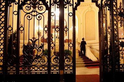 Velas y luces para un matrimonio en la noche