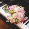 Bouquet de peonias rosas.