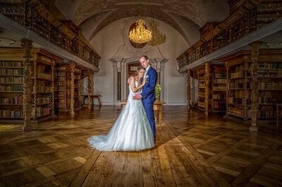 Janine & Martin: sommerliche Märchenhochzeit im Kloster St. Urban