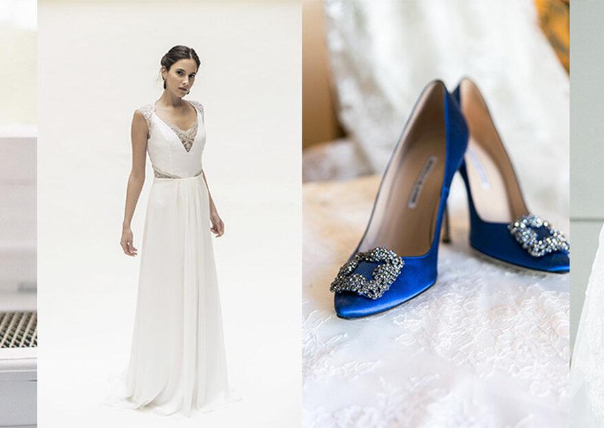 Algo nuevo, algo viejo, algo azul y una moneda en el zapato