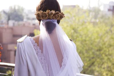 Bruids-hoofddeksels voor 2016: Geef een ander tintje aan je look