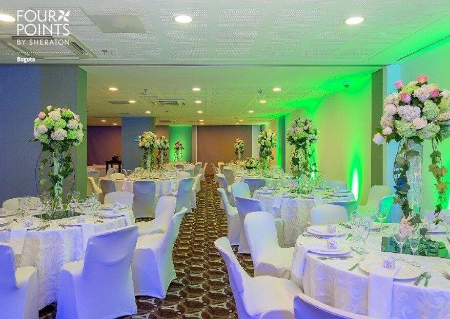El hotel Four Points by Sheraton Bogotá: todo lo que necesitas para una boda memorable y espectacular
