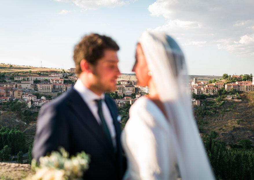 Una boda en una romántica villa medieval: el gran día de Sara e Ismael