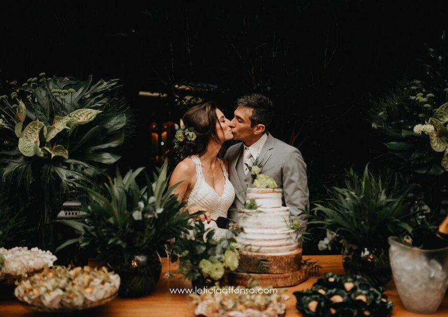 Isabela & Roger: Decoração com muito verde, cheia de charme e conectada com o lifestyle dos noivos