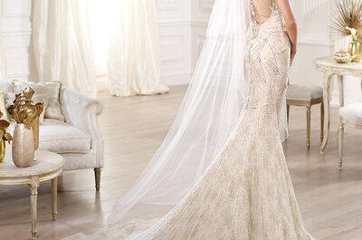 Vestidos de novia con lindos escotes en la espalda para 2014