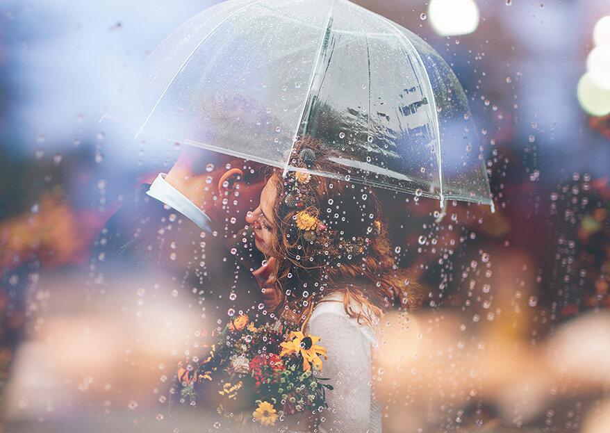 Como sobreviver a um casamento com chuva em 5 passos