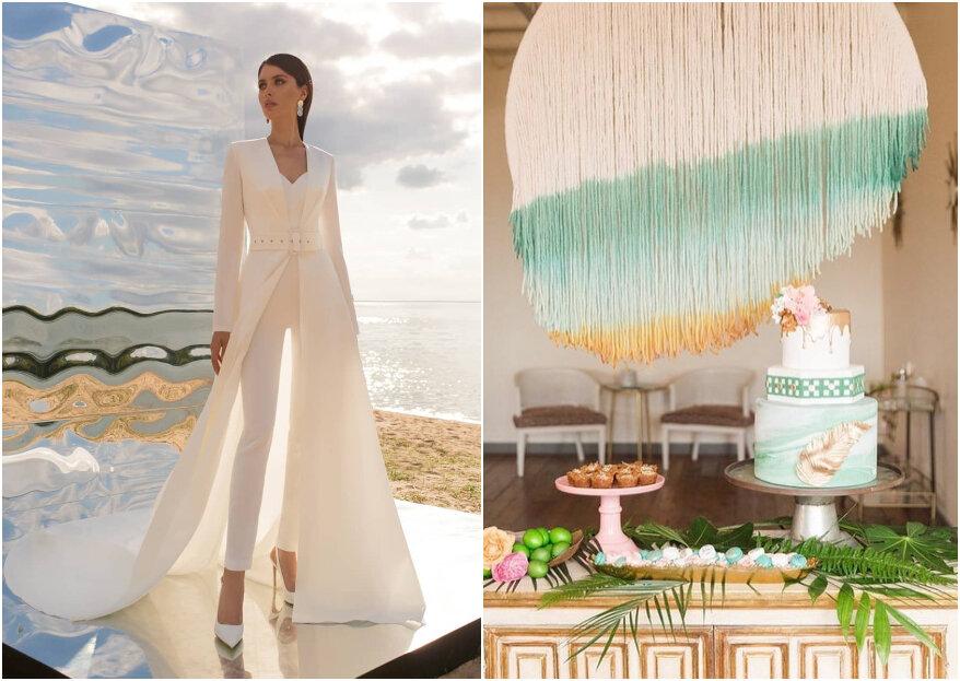 Estas son las 10 tendencias para bodas: ¿qué esperas para brillar?