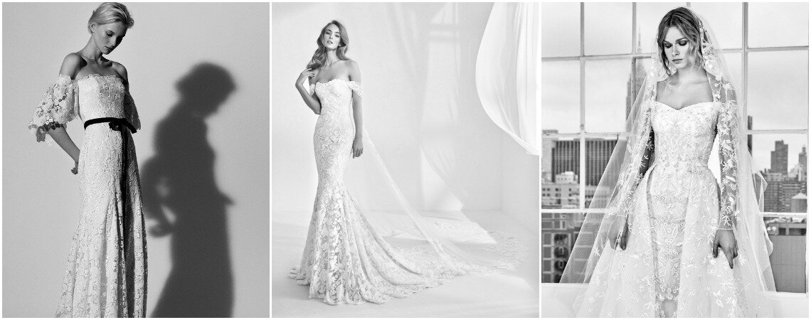Vestidos de novia con hombros caídos: La tendencia que ¡arrasa por completo!