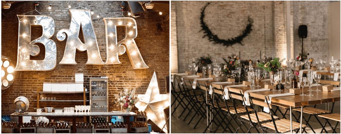 Mais de 40 ideias para fazer uma decoração de casamento estilo industrial: TOP tendência!