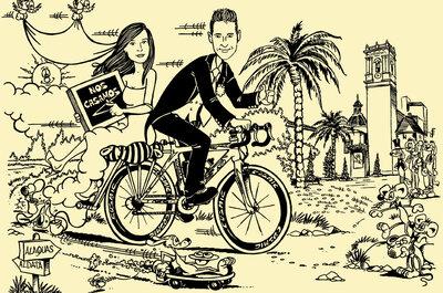 Una invitación de boda muy original con tu caricatura de protagonista: Serigrafía El Coyote
