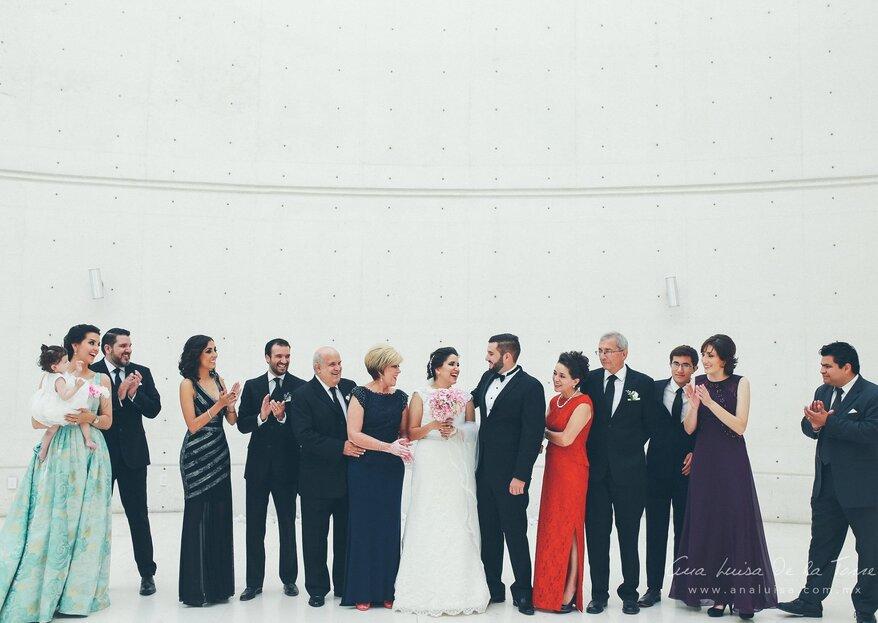 4 tips para que las fotos con la familia salgan increíbles el día de la boda