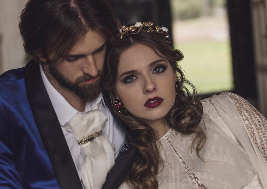 Vincent y Ella: un shooting de boda inspirado en 'La Bella y la Bestia'