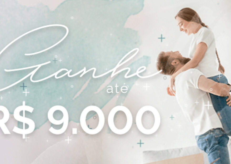 Participe e ganhe até R$9.000 para seu casamento com nosso Sorteio!