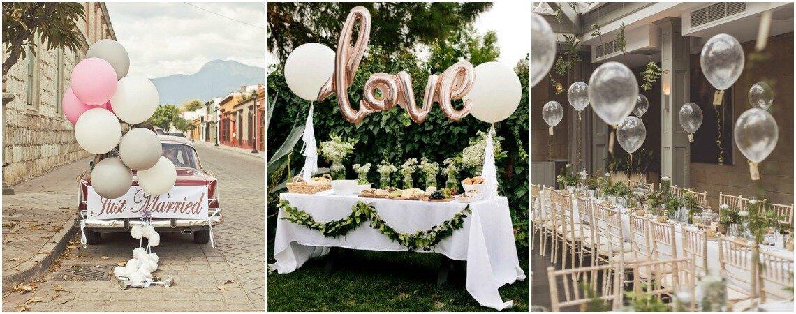 Luftballons als Hochzeitsdekoration: Die Leichtigkeit der Liebe als optische Hingucker!