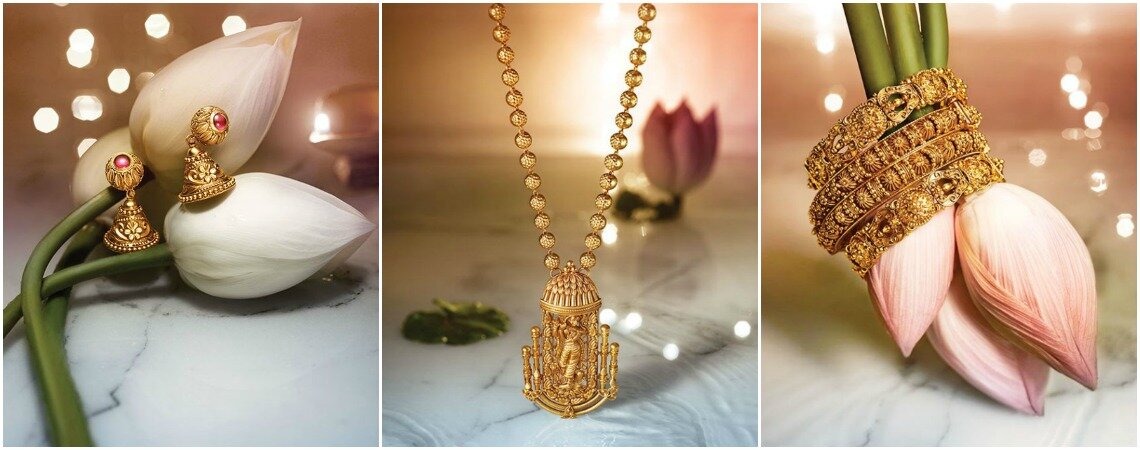 Amazing Tanishq lightweight gold jewellery designs for guests- 2017
