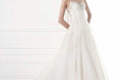 25 propuestas de vestidos de novia con tirantes para 2015