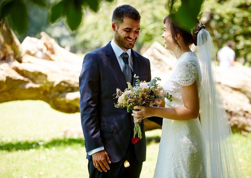 Romántica y silvestre: la boda de Irene y Jesús