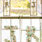 Initiales des mariés, ornées de fleurs.