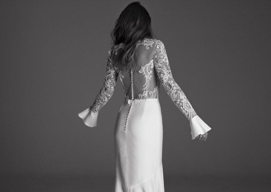 Mangas dramáticas para tu vestido de novia: conoce la última tendencia en moda nupcial