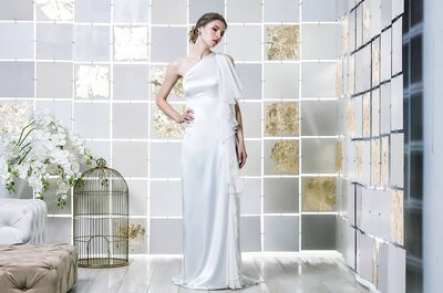 Come indossare un abito da sposa monospalla? CON queste 6 cose!