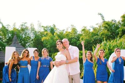 Sonrisas, diversión y zapatos de novia color azul real: Así fue la mágica boda de Laura y Sam