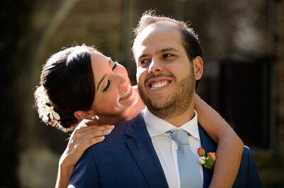 Con la emoción a flor de piel: La boda de Majo y Chente