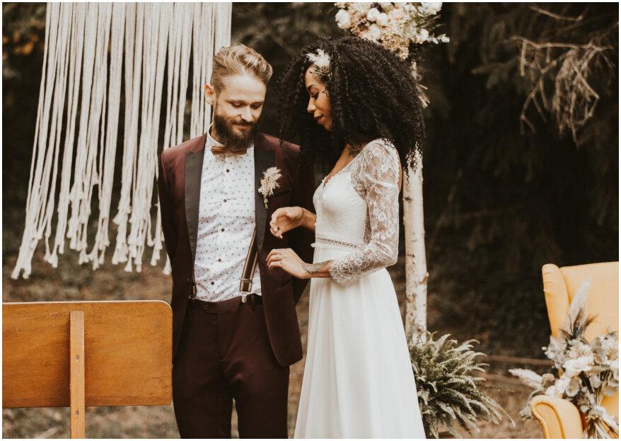 Morgane et Gurval : un magnifique mariage bohème près de Lyon