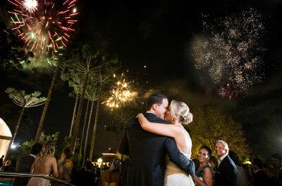 Casamento de Andrea & Pedro: à noite e com direito a queima de fogos para celebrar o amor!